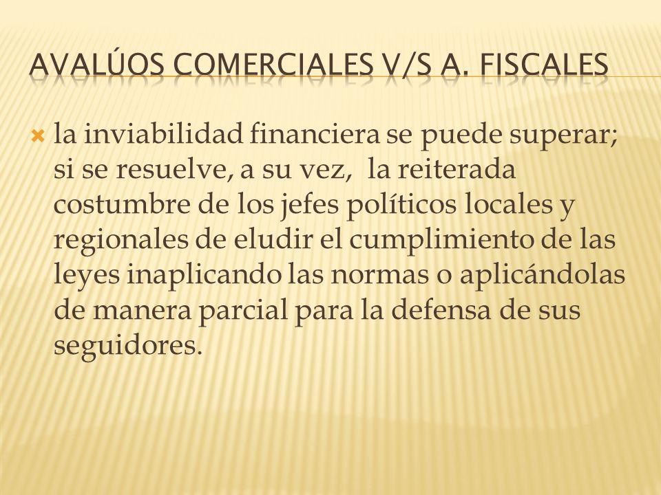 AVALÚOS COMERCIALES V/S A. FISCALES