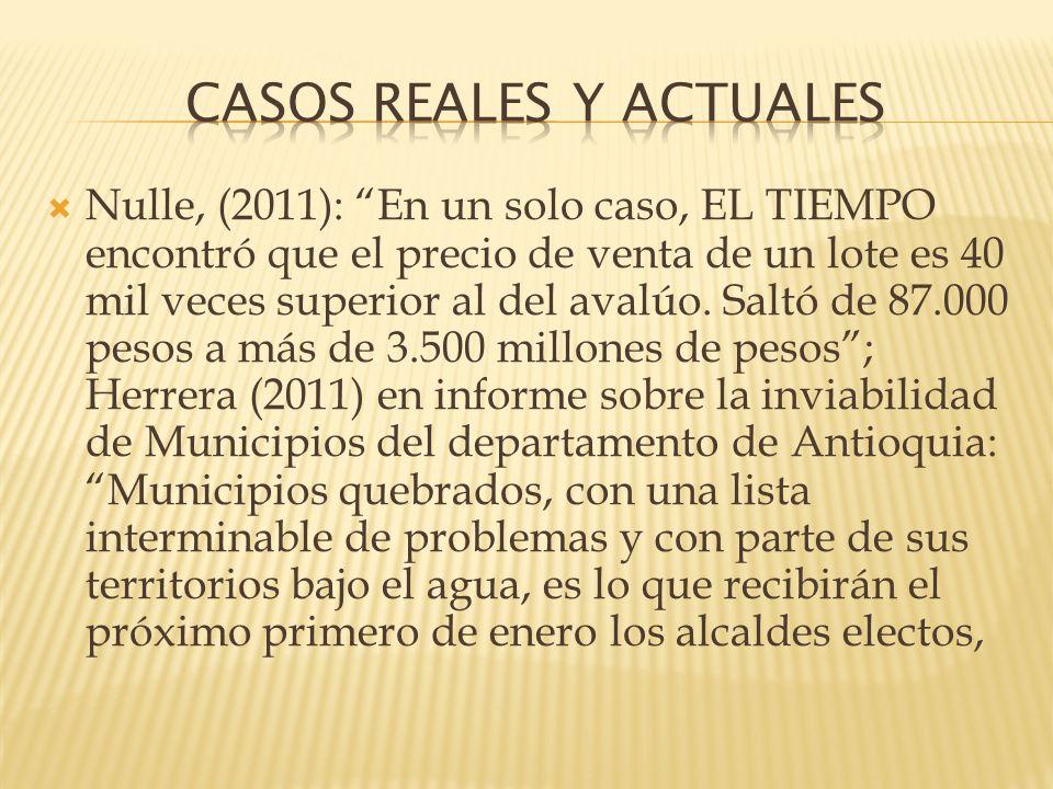 CASOS REALES Y ACTUALES