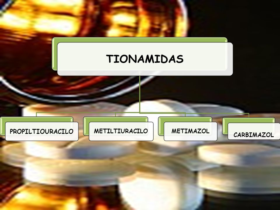 TIONAMIDAS PROPILTIOURACILO METILTIURACILO METIMAZOL CARBIMAZOL