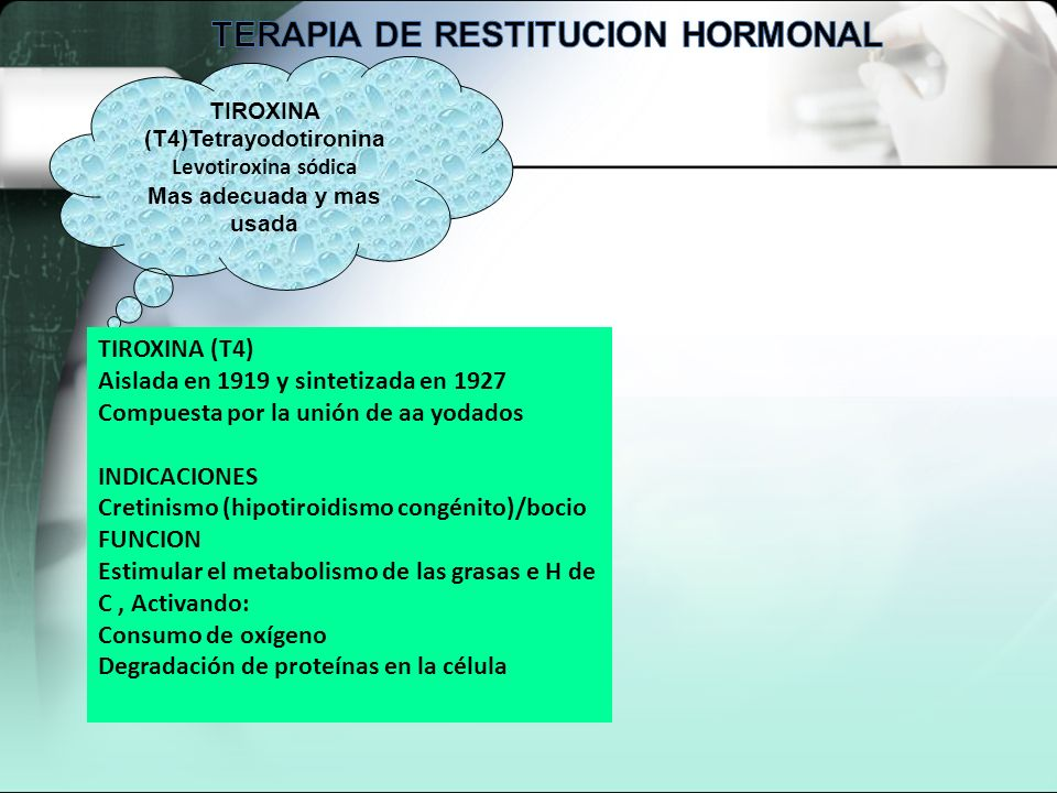 TERAPIA DE RESTITUCION HORMONAL