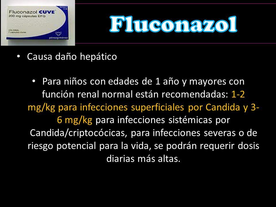 Fluconazol Causa daño hepático