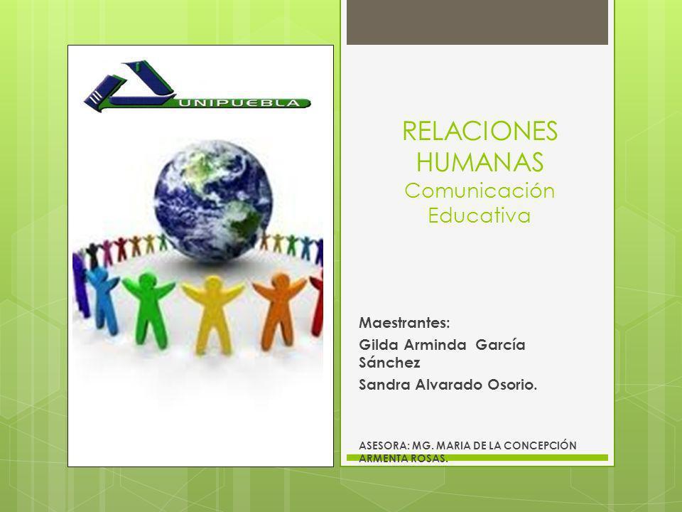 RELACIONES HUMANAS Comunicación Educativa