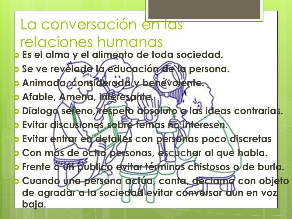 La conversación en las relaciones humanas