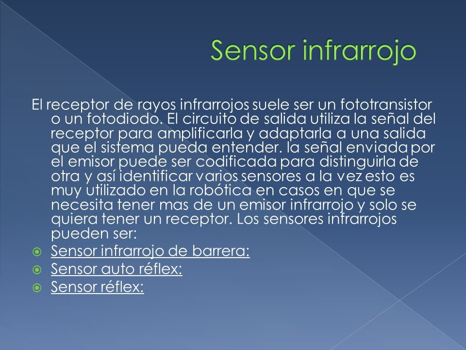 Sensor infrarrojo