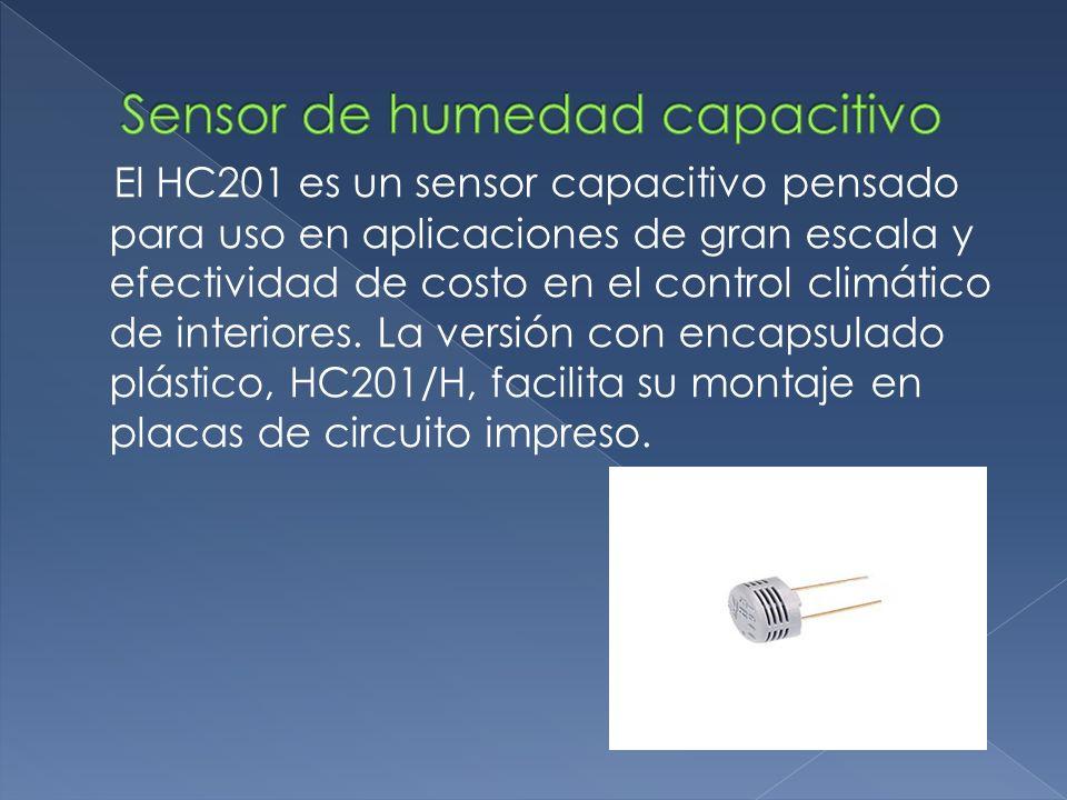 Sensor de humedad capacitivo
