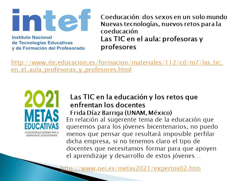 Las TIC en el aula: profesoras y profesores