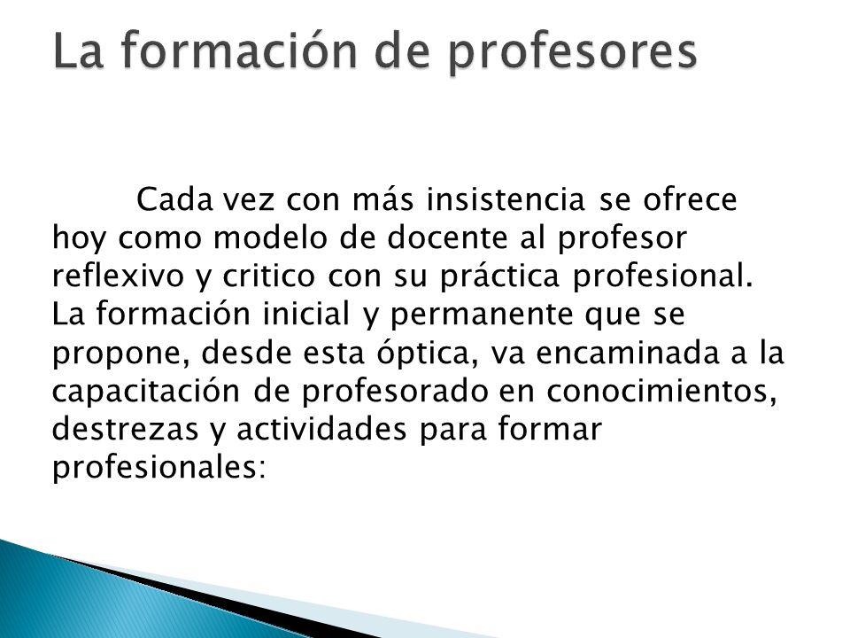 La formación de profesores