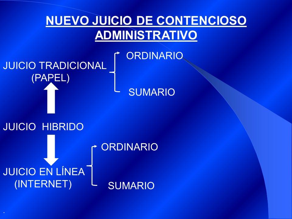 NUEVO JUICIO DE CONTENCIOSO ADMINISTRATIVO