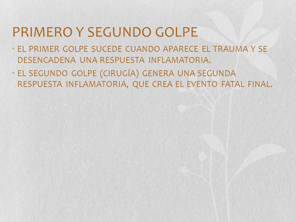 PRIMERO Y SEGUNDO GOLPE
