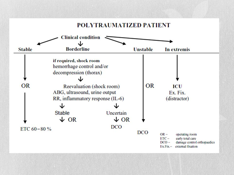 The current treatment algorithm from Hannover, Germany, for the use of damage control orthopaedics