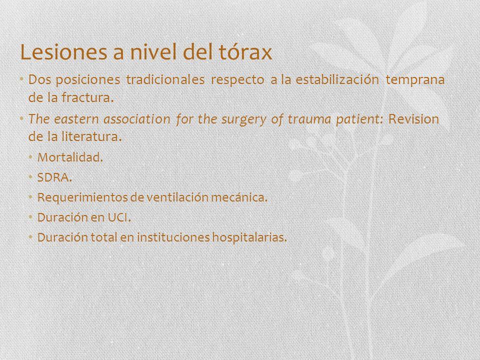 Lesiones a nivel del tórax