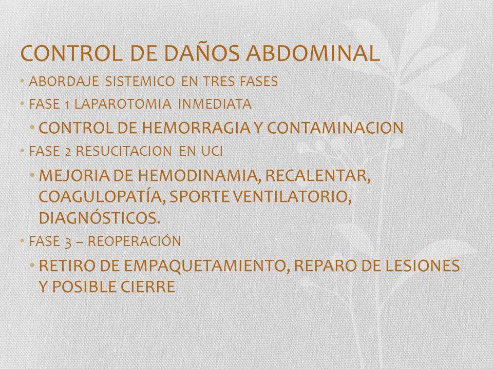 CONTROL DE DAÑOS ABDOMINAL