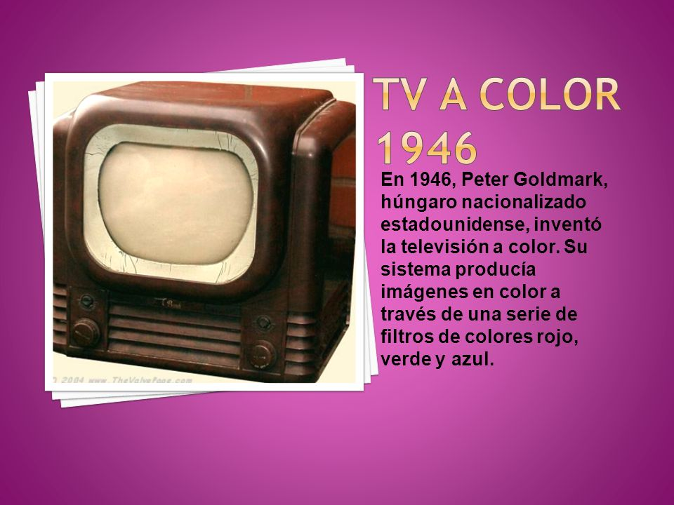 TV A COLOR 1946