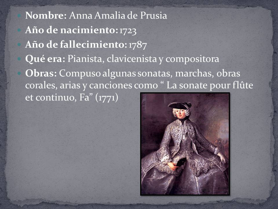 Nombre: Anna Amalia de Prusia