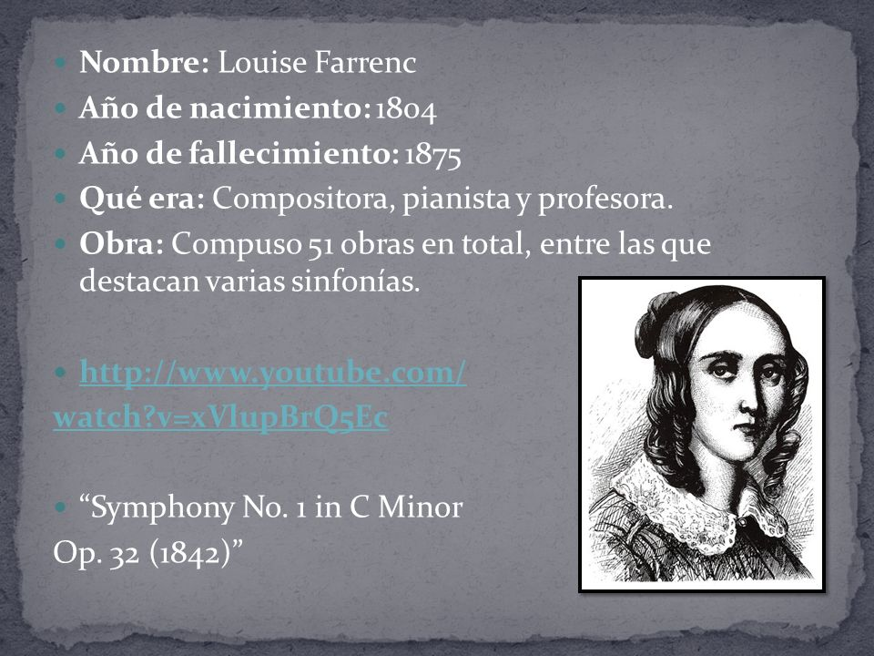 Nombre: Louise Farrenc