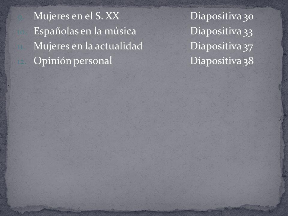 Mujeres en el S. XX Diapositiva 30
