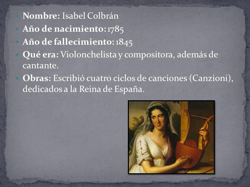 Nombre: Isabel Colbrán