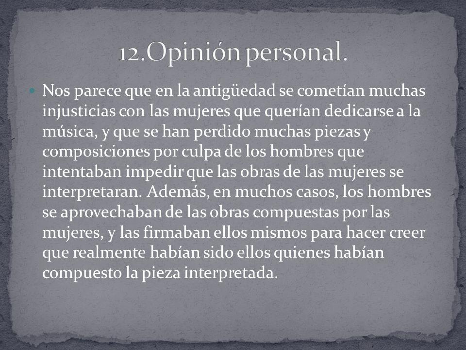 12.Opinión personal.