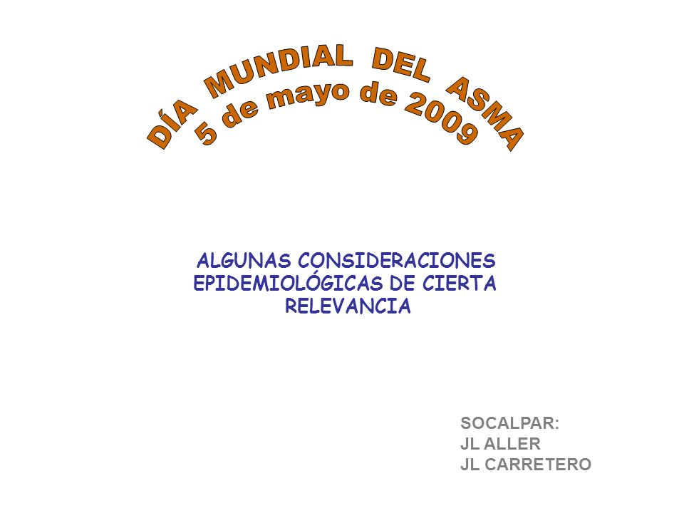 ALGUNAS CONSIDERACIONES EPIDEMIOLÓGICAS DE CIERTA