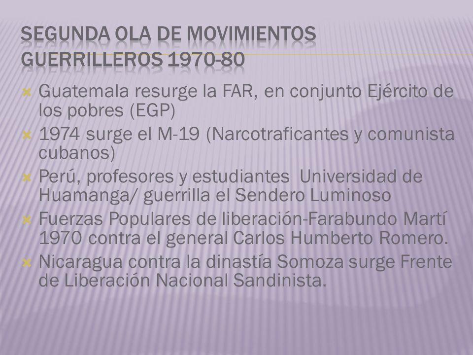 Segunda ola de movimientos guerrilleros 1970-80