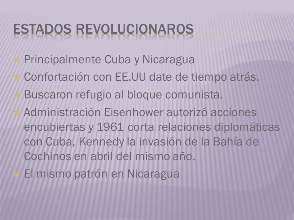 Estados revolucionaros