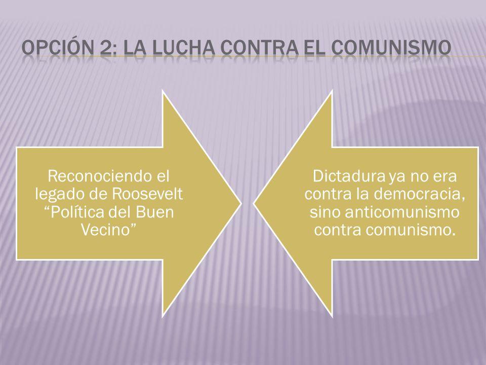 Opción 2: La lucha contra el comunismo