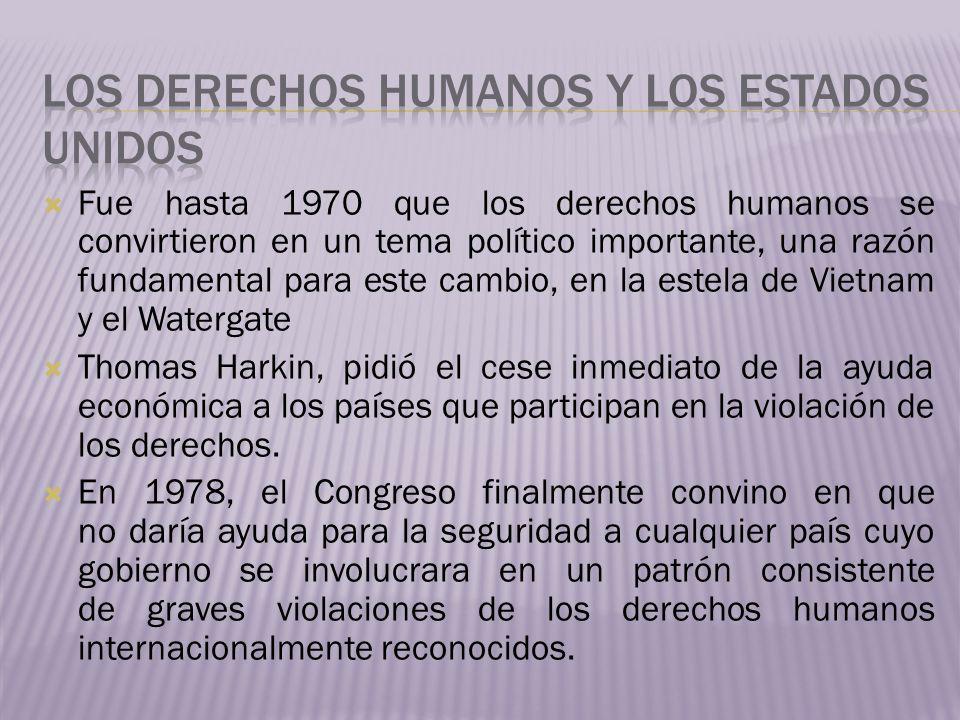 Los derechos humanos y los estados unidos
