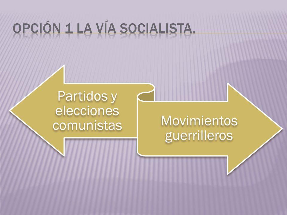 Opción 1 la vía socialista.