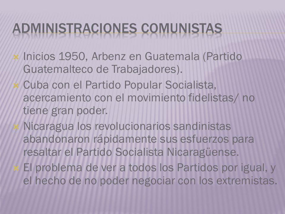 Administraciones comunistas