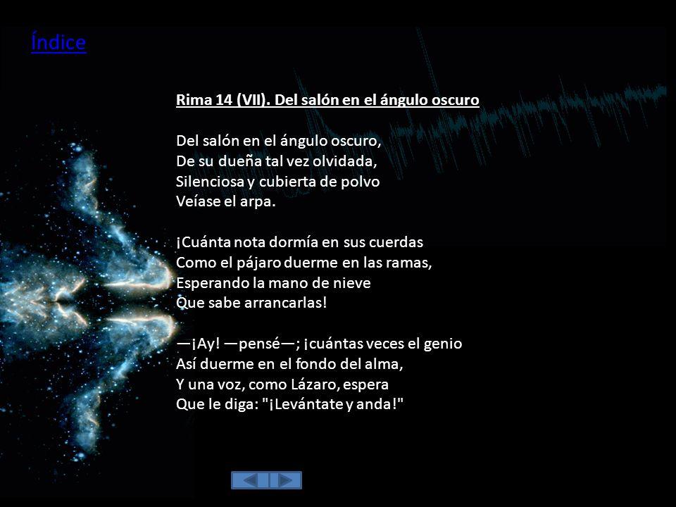 Índice Rima 14 (VII). Del salón en el ángulo oscuro