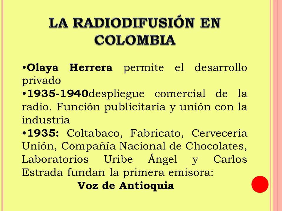 LA RADIODIFUSIÓN EN COLOMBIA