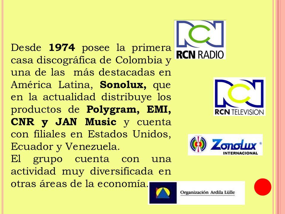 Desde 1974 posee la primera casa discográfica de Colombia y una de las más destacadas en América Latina, Sonolux, que en la actualidad distribuye los productos de Polygram, EMI, CNR y JAN Music y cuenta con filiales en Estados Unidos, Ecuador y Venezuela.