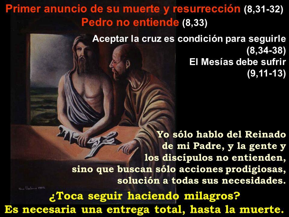 Primer anuncio de su muerte y resurrección (8,31-32)