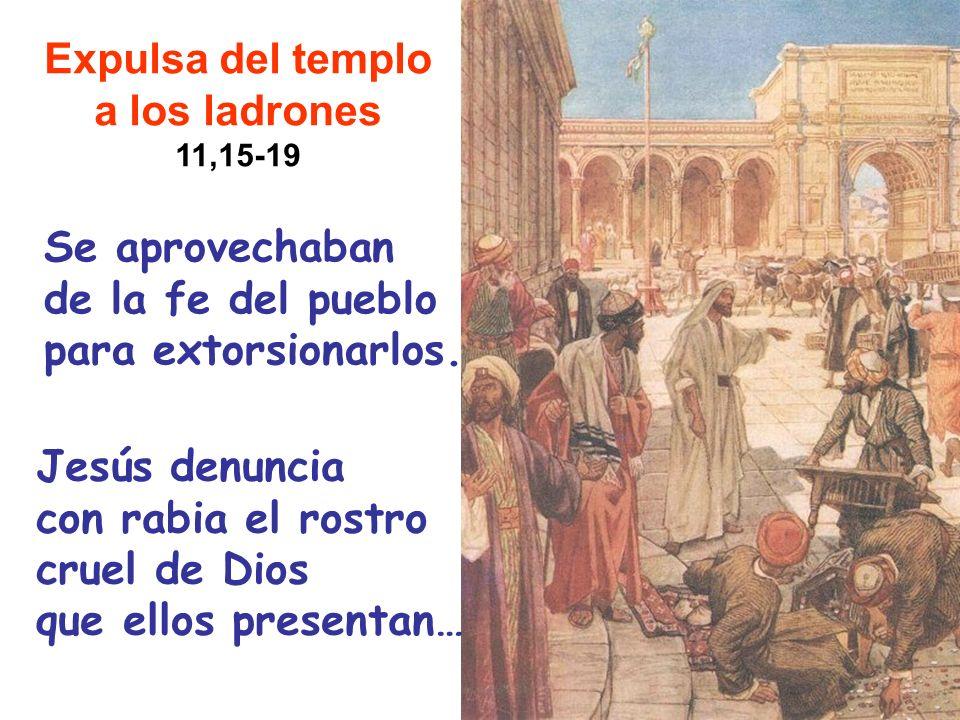 Expulsa del templo a los ladrones