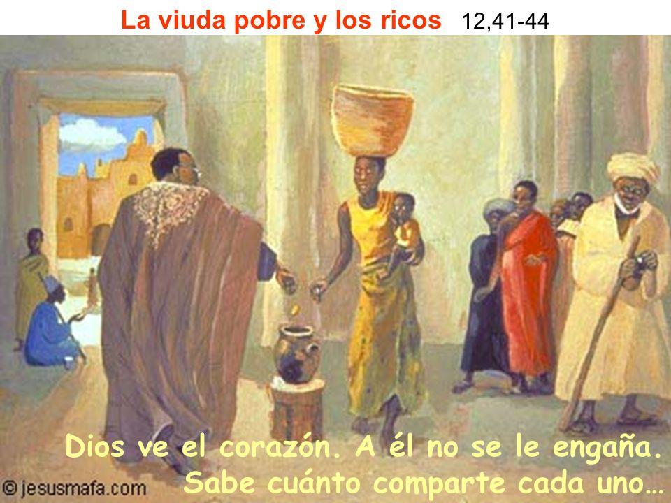 La viuda pobre y los ricos 12,41-44