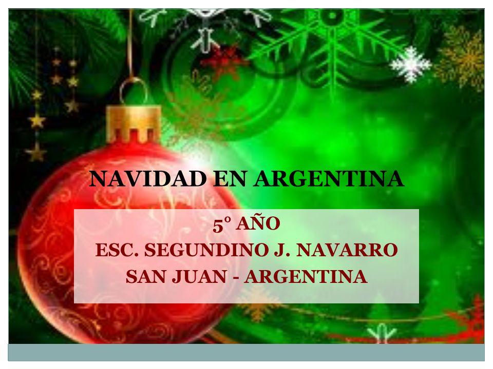 5° AÑO ESC. SEGUNDINO J. NAVARRO SAN JUAN - ARGENTINA