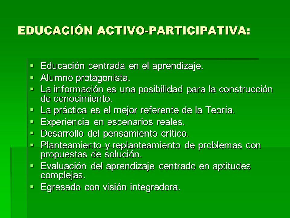 EDUCACIÓN ACTIVO-PARTICIPATIVA: