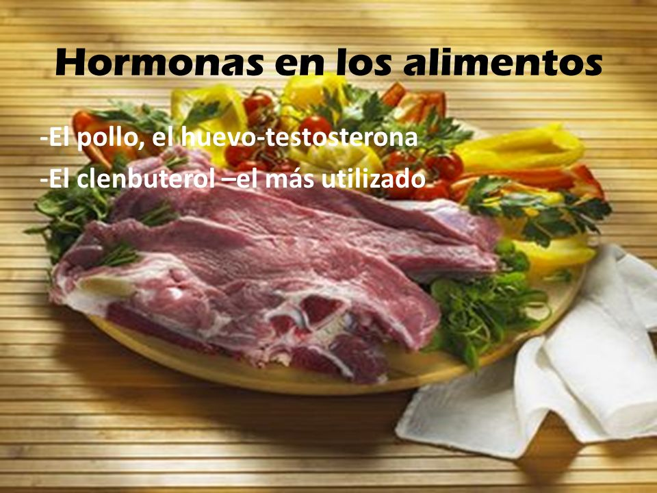 Hormonas en los alimentos