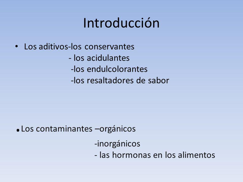 .Los contaminantes –orgánicos