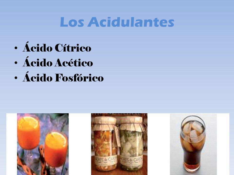 Los Acidulantes Ácido Cítrico Ácido Acético Ácido Fosfórico
