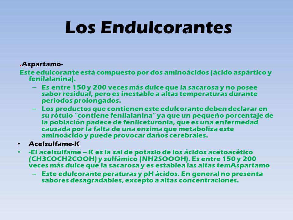 Los Endulcorantes .Aspartamo-