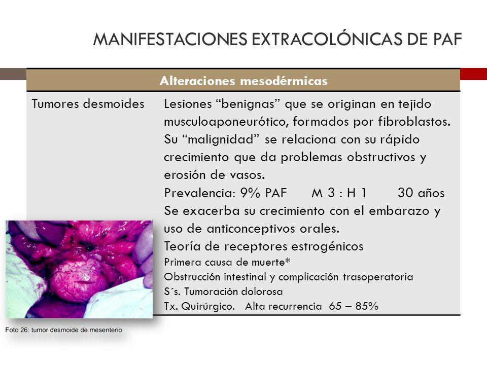 MANIFESTACIONES EXTRACOLÓNICAS DE PAF