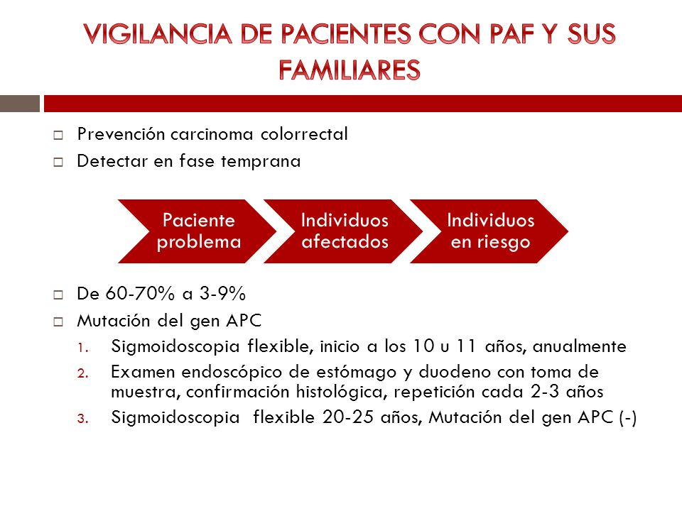 VIGILANCIA DE PACIENTES CON PAF Y SUS FAMILIARES