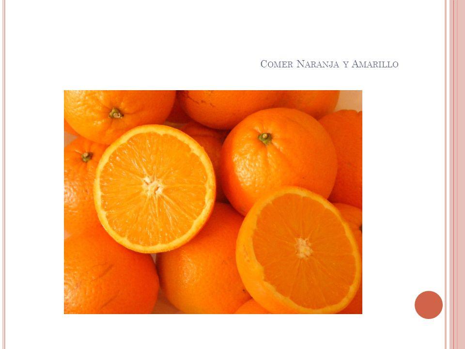 Comer Naranja y Amarillo