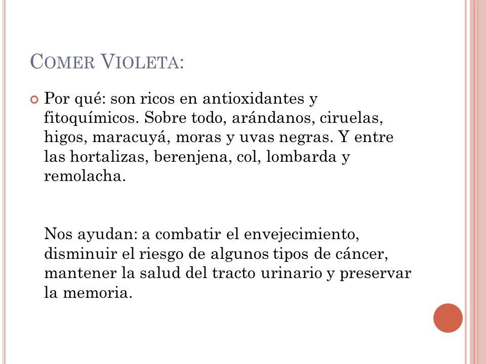 Comer Violeta: