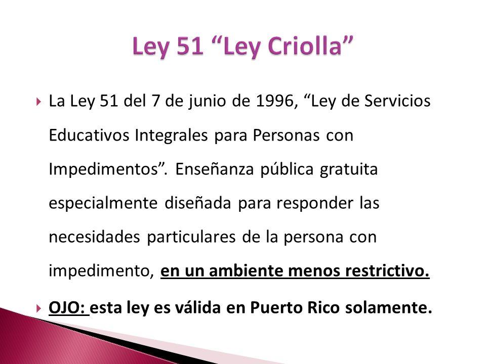 Ley 51 Ley Criolla
