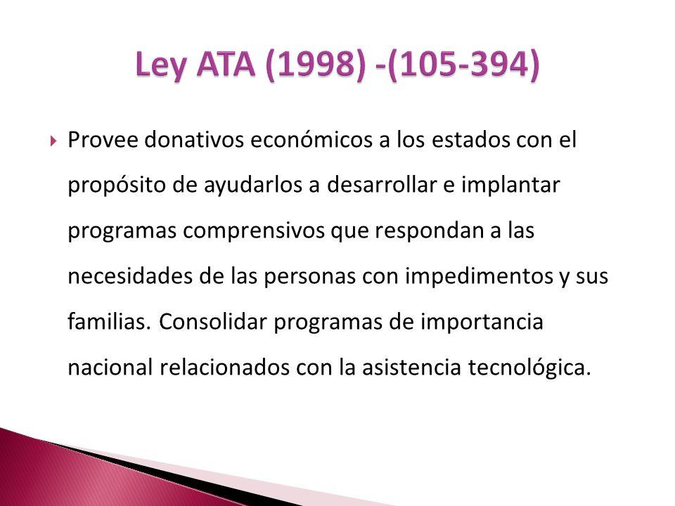 Ley ATA (1998) -(105-394)