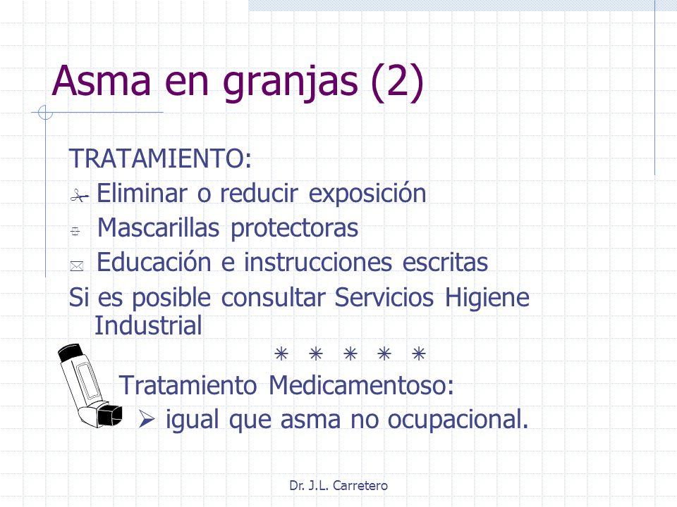 Asma en granjas (2) TRATAMIENTO: