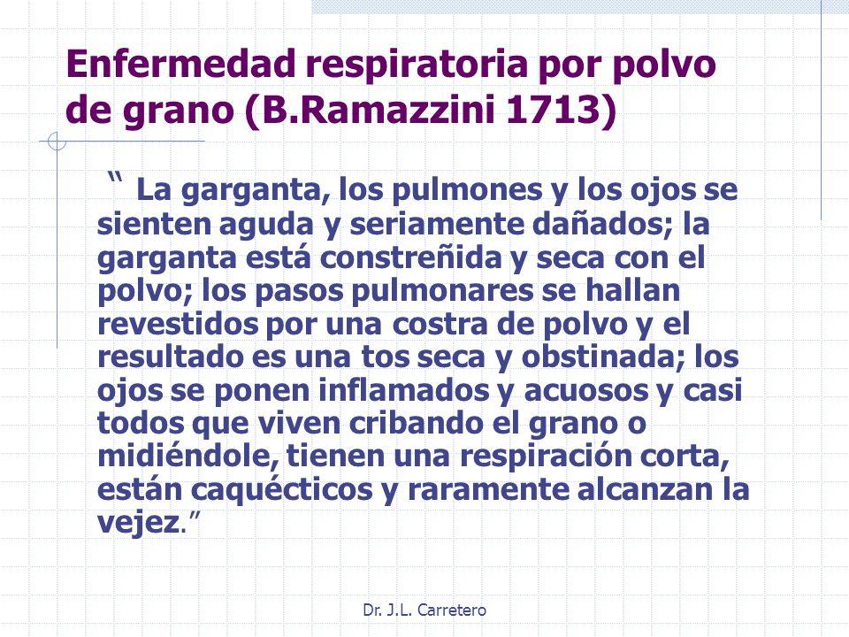 Enfermedad respiratoria por polvo de grano (B.Ramazzini 1713)