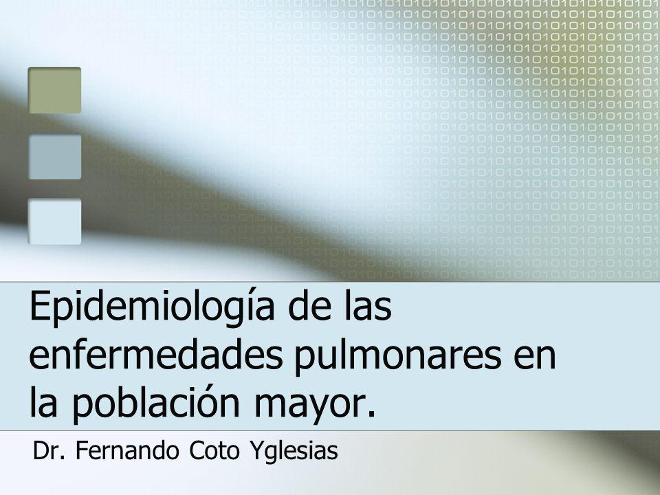 Epidemiología de las enfermedades pulmonares en la población mayor.